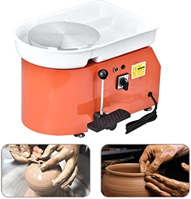 The Best Electric Pottery Ceramic Wheel/Machine with Hans or Foot Pedal detail review
