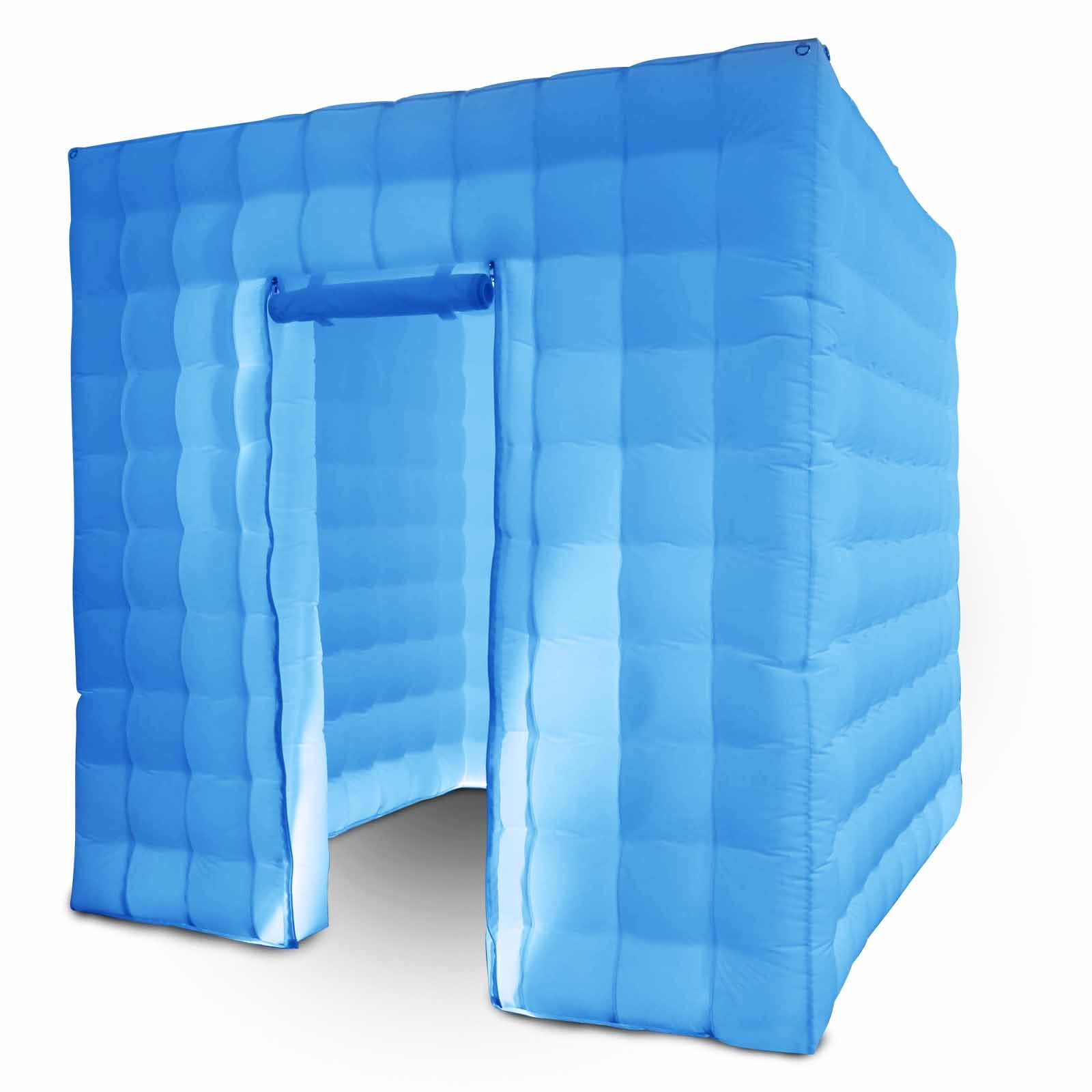 Happybuy Inflatable Photo Booth 1 Doors Inflatable Photo Booth Enclosure 8.2 x 8.2ft Portable Inflatable LED Photobooth with Inner Air Blower Great for Parties Weddings Anniversary Birthdays Parties by Happybuy