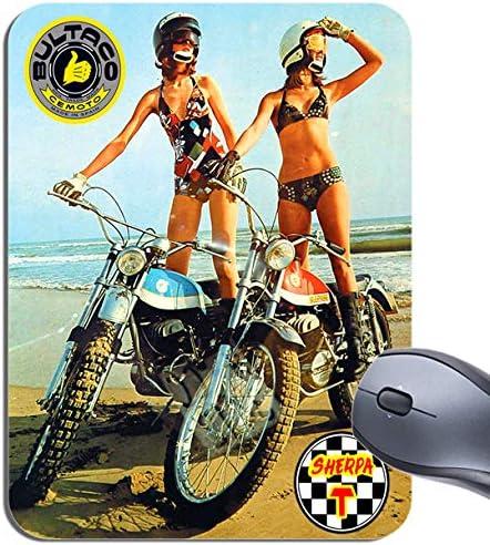 Bultaco Sherpa T para moto motorista alfombrilla para ratón y ...