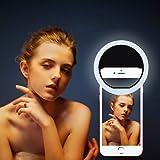 Selfie Light,TeckEpic 36 Highlight LED Selfie Ring Flash Fill Light Camera Photography for iPhone X/10,iPad/Samsung/Blackberry/Motorola and All the Smart Phones (Black)