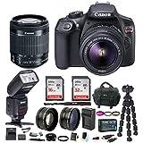 Canon EOS Rebel T6 Digital Camera: 18 Megapixel 1080p HD Video DSLR Bundle 18-55mm Lens TTL Flash 48GB SD Card Mini Tripod Filter Kit & Charger - Professional Vlogging Sports & Action Cameras