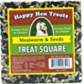 "Happy Hen Treats 6 oz. Square-Mealworm and Seed, 4.25"" by 4.25"" by 1.25"" by Randall Burkey Company"