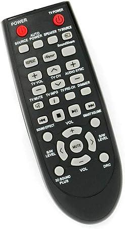 Mando a Distancia Compatible con Samsung HW-D350/ZF HW-D450/XU HW-D550 HW-E350 HW-E450/ZAZZ01 HW-F355/ZA HW-F551 HW-H550 Sistema de Barra de Sonido para Cine en casa: Amazon.es: Electrónica