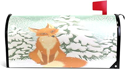 Funny Fox Magnetic Mailbox Cover Mail Wraps Letter Box Covers