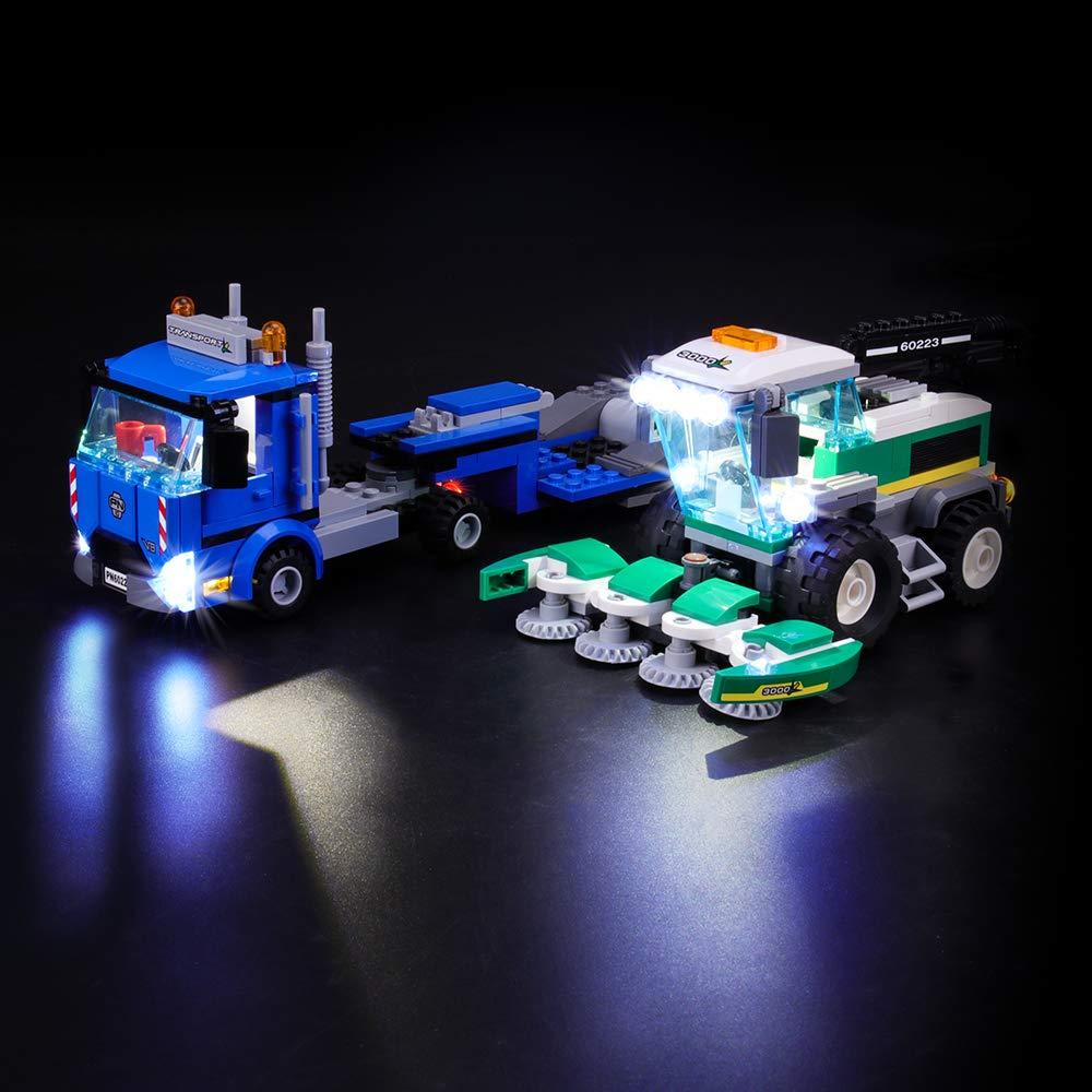 NOT Included The Model LIGHTAILING Light Set for City Harvester Transport Led Light kit Compatible with Lego 60223 Building Blocks Model