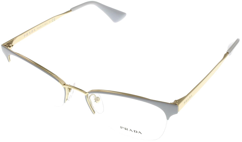 b1714f2237f7 Prada Women Eyeglasses Designer Grey Semi Rimless PR65QV TV31O1 at Amazon  Women s Clothing store