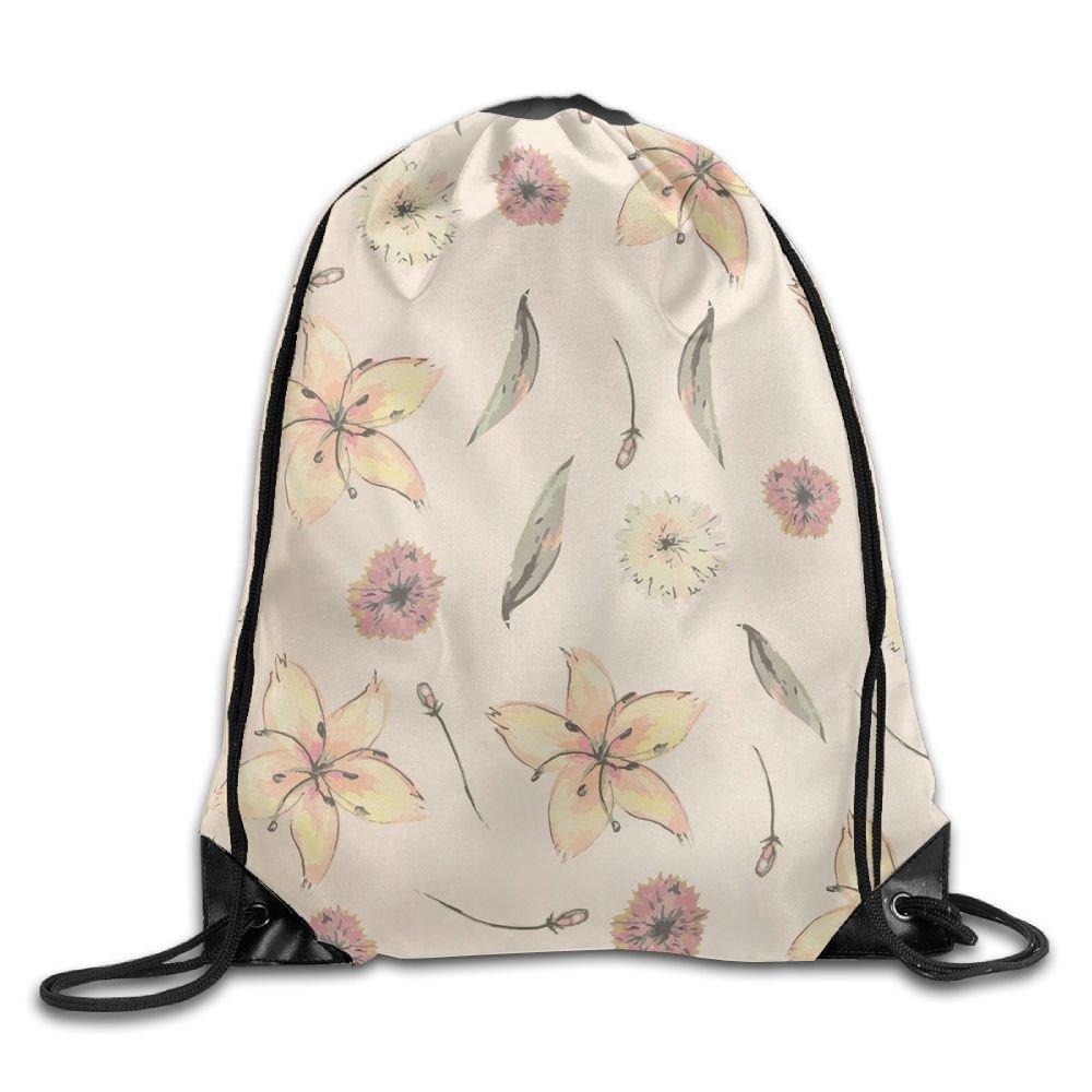 VIMUCIS Floral Drawstring Backpack Rucksack Shoulder Bags Training Gym Sack For Man And Women