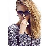 Women Oversized Square Sunglasses UV Protection Eye, Black, Size 60