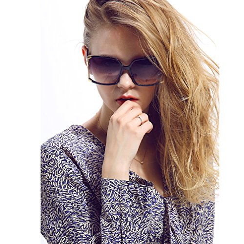 New Fashion Women Oversized Square sunglasses UV Protection eye glasses Goggles ()