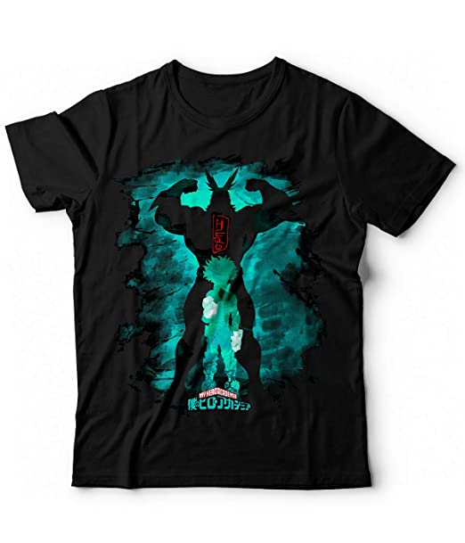 a4a98dceeb9eb Generico T-Shirt Tshirt My Hero Academia Boku No Hero Deku Midoriya Bakugo  Shoto Todoroki all Might Plus Ultra One for all Anime  Amazon.it   Abbigliamento