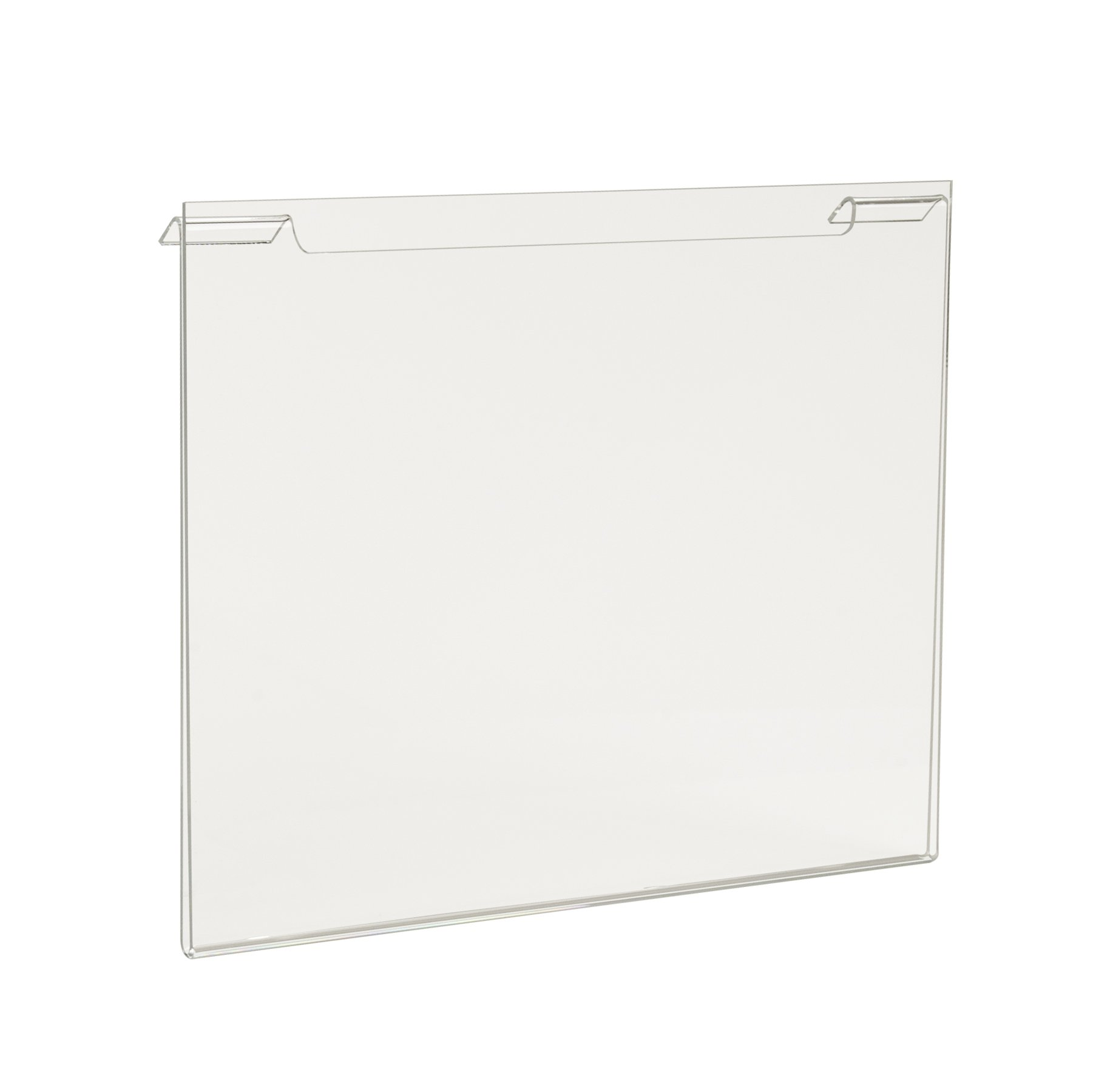 Econoco Commercial Height Acrylic Horizontal for Slatwall/Gridwall, 11' Width x 8-1/2'' (Pack of 24)
