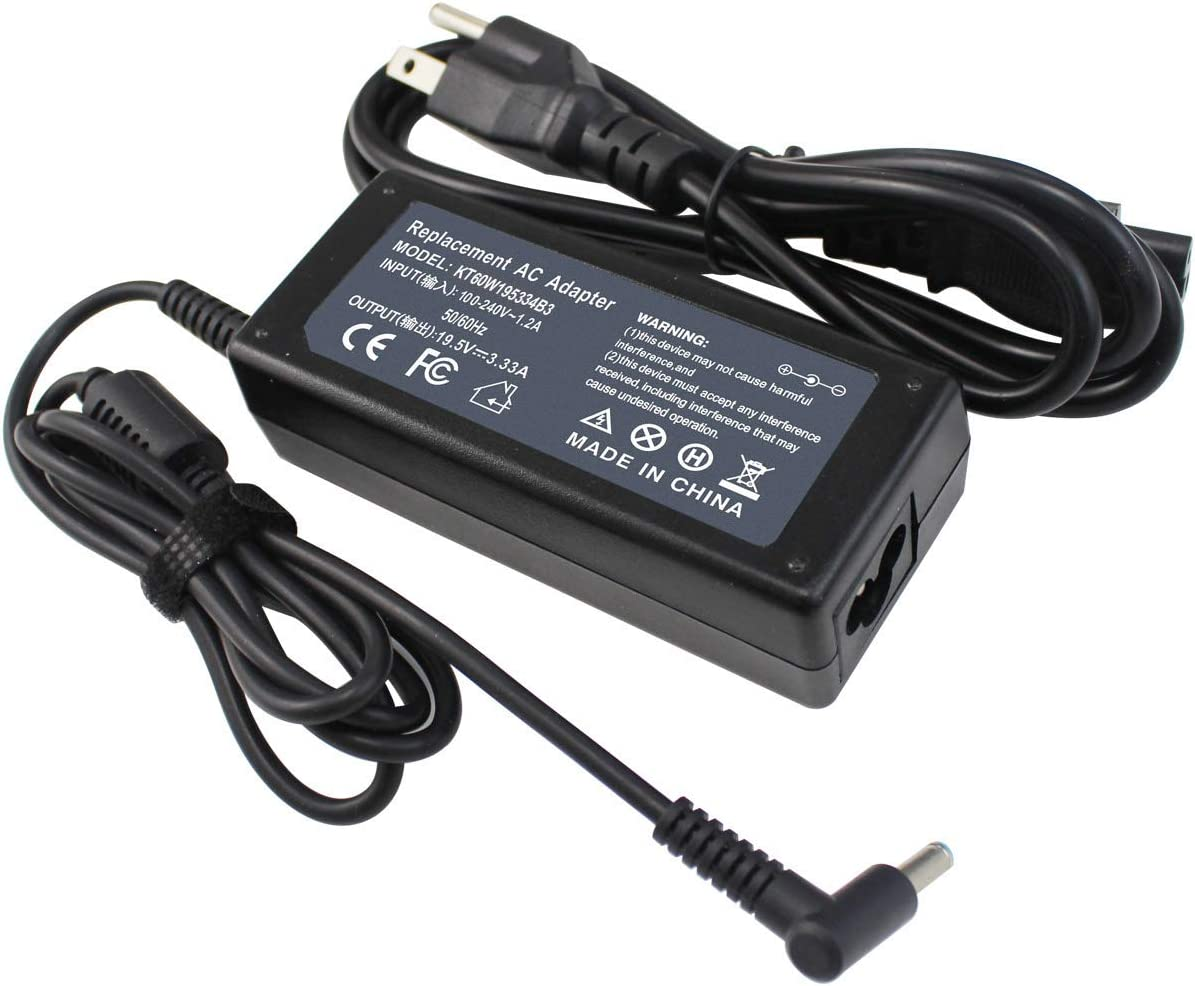 LNOCCIY 19.5V 3.33A 65W AC Adapter Charger for HP ChromeBook 14-Q010NR 14-Q039WM 14-Q049WM 15-D035DX 15-F009WM 15-F023WM 15-F039WM 709985-001 710412-001 709985-002 709985-003 PPP09C Power Supply Cord