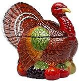 Cosmos 10712 Gifts Turkey Design Ceramic Cookie Jar, 10-3/8-Inch