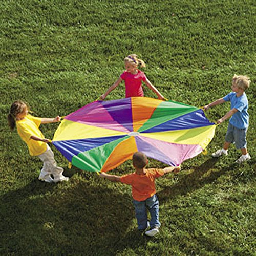 6 Ft. Kids Play Parachute w/ Handles Outdoor Game Toy w/Carry Case