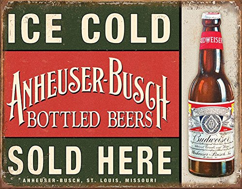Poster Revolution Anheuser-Busch - Ice Cold Tin Sign 16 x ()