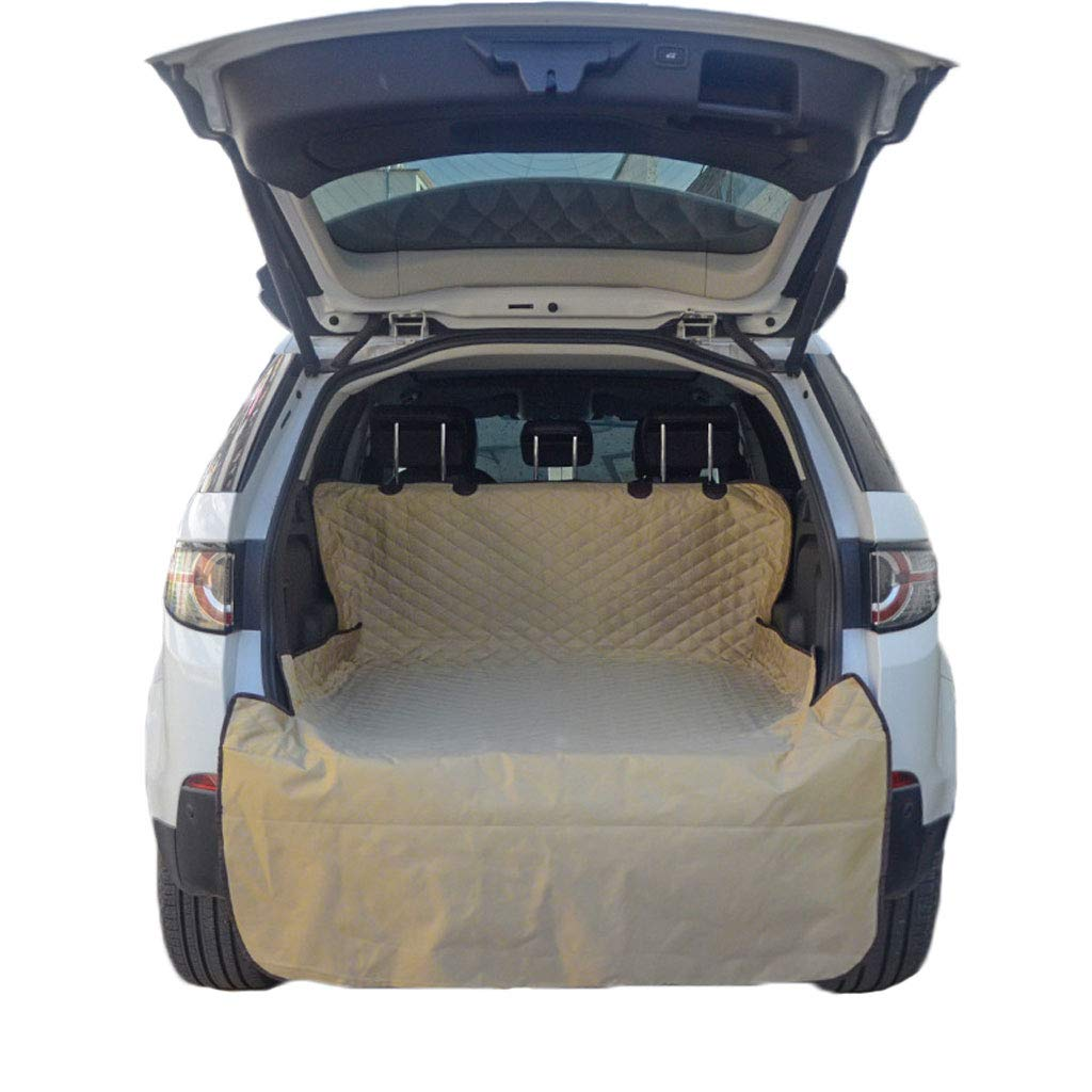 Khaki GCHOME Dog car seat cover Pet Car Mat Mat Trunk Car Waterproof Oxford Cloth Dog Cushion (color   Khaki)