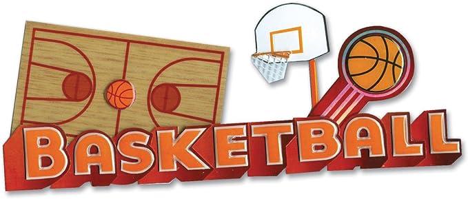 JOLEE/'S BOUTIQUE Basketball 3-D Autocollants Bottes Sifflet PLANCHE Hoop