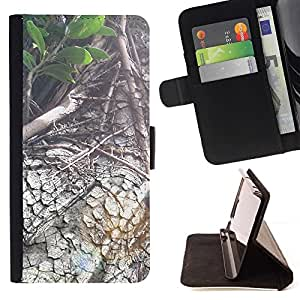 Momo Phone Case / Flip Funda de Cuero Case Cover - Planta Naturaleza Forrest Flor 88 - Apple Iphone 5 / 5S