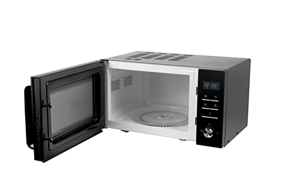 Medion MD 18043 - Microondas 3 en 1, 900 W, grill de 1000 W, aire caliente de 1950 W, combinación de microondas, grill y horno de 25 L, ...
