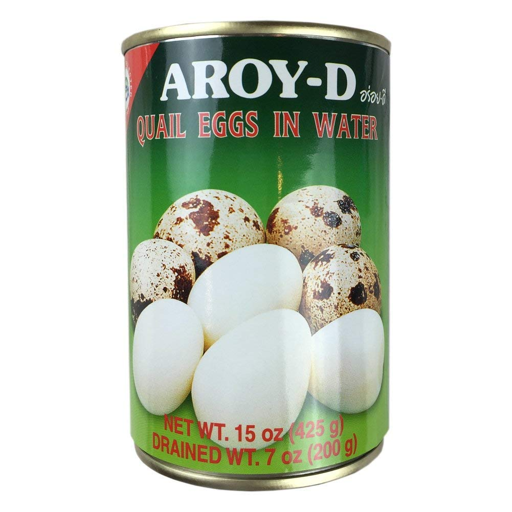 Aroy-D Quail Eggs in Water 15 oz - Pack of 6 by Aroy-D (Image #1)