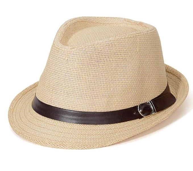 Saoye Fashion Unisex Hombres Mujeres Sombrero para El Sol Sombrero De Paja  Fácil De Igualar S  Amazon.es  Ropa y accesorios 6cd9aea6f8e
