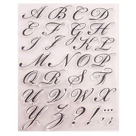 FURU Alfabeto Carta Sello Claro De Silicona DIY Scrapbooking ...