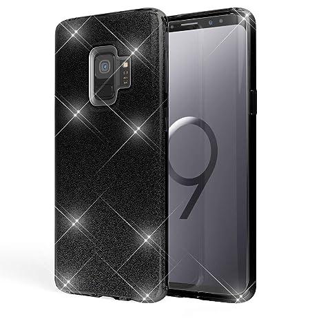 2d1aa48d544f NALIA Coque Silicone pour Samsung Galaxy S9, Ultra-Fine Glitter Housse  Protection Slim Case
