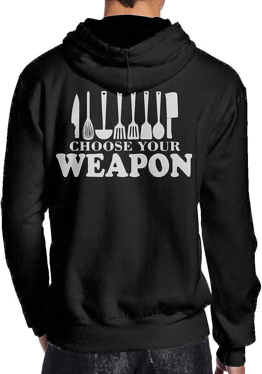 Choose Your Weapon Chef Kitchen Mens Pullover Hoodie Sweatshirt Back Print Hoodies