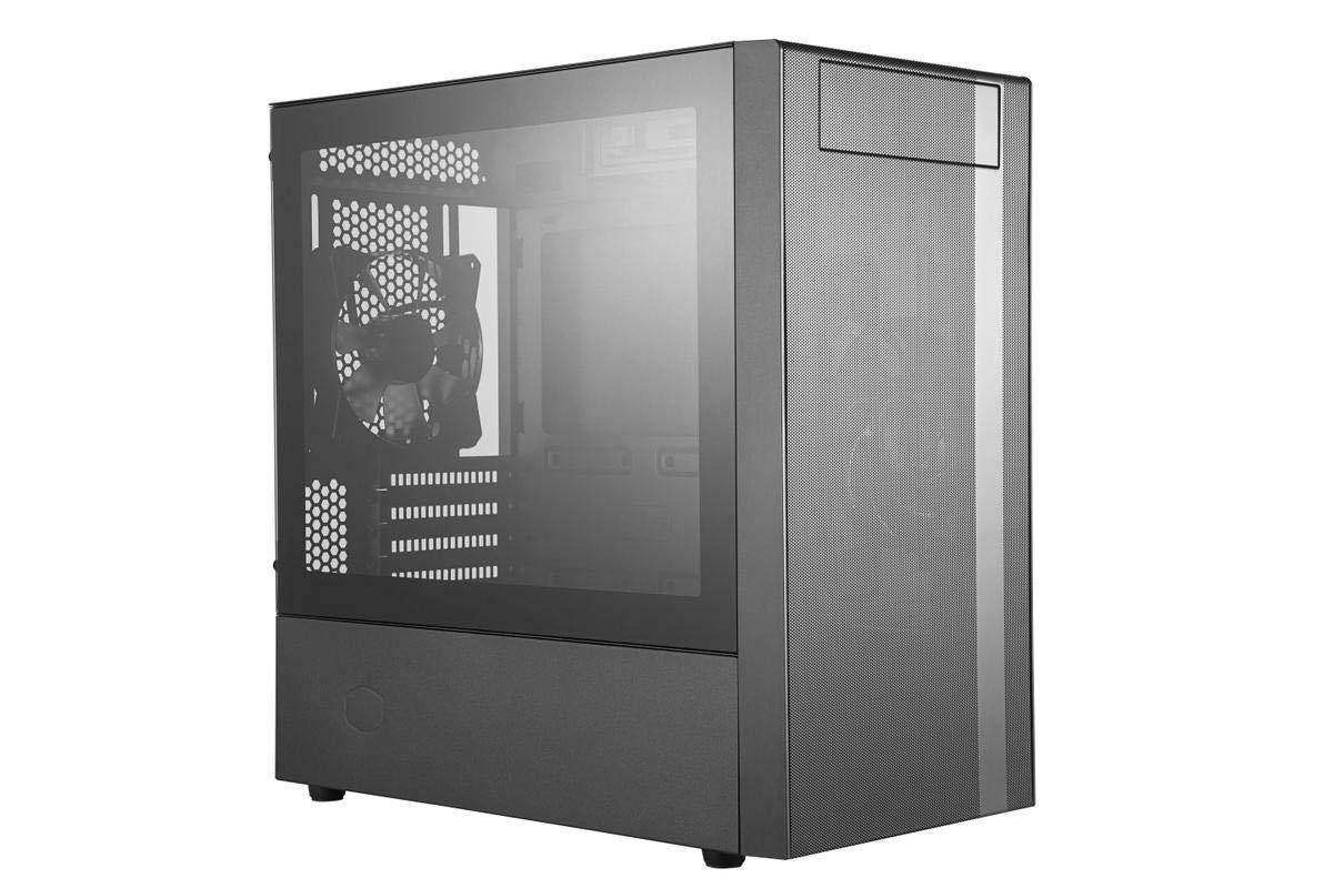 Cooler Master MasterBox NR400 w/Front Mesh Ventilation, Minimal Design, Tempered Glass Side Panel and Single Headset Jack by Cooler Master