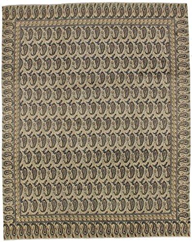 Unique Allover Cream Kashan Boteh Design Persian Style Rug Oriental Area Carpet 9X12 (Kashan Royal Rug)