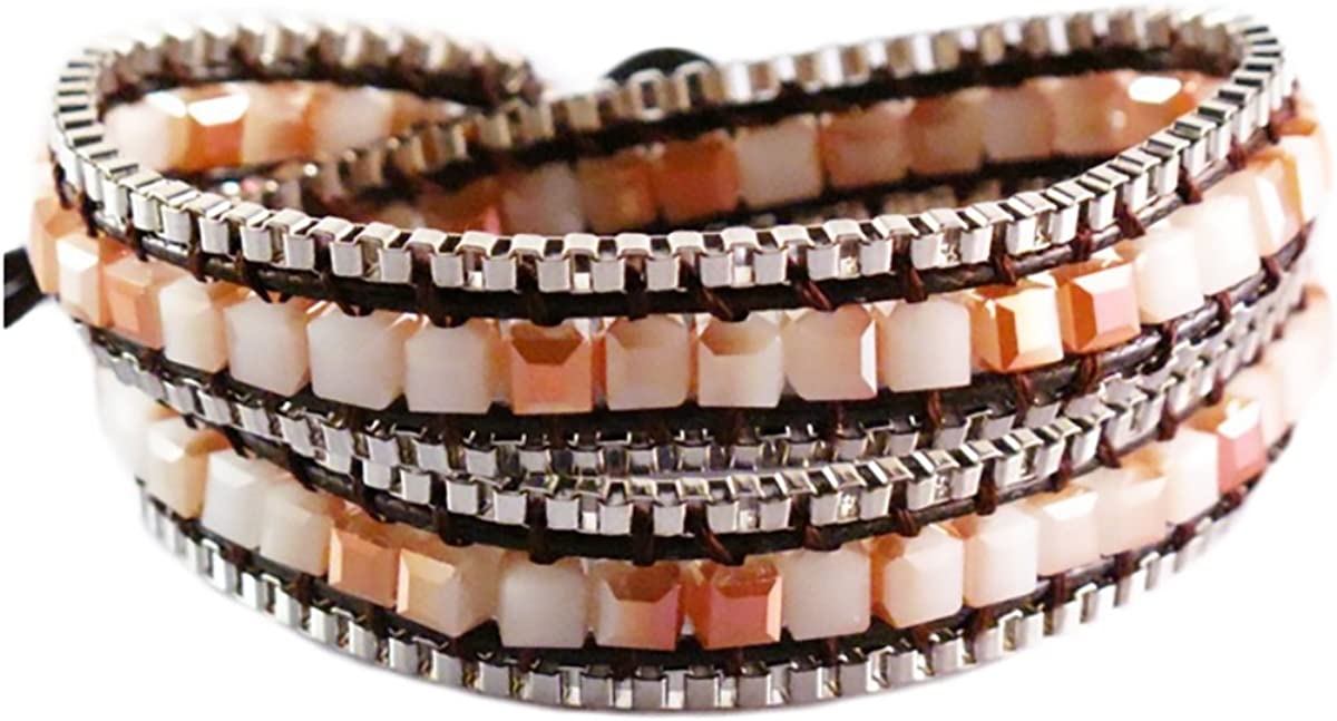 7 LUXE Cheyenne Beaded Double Wrap Bracelet