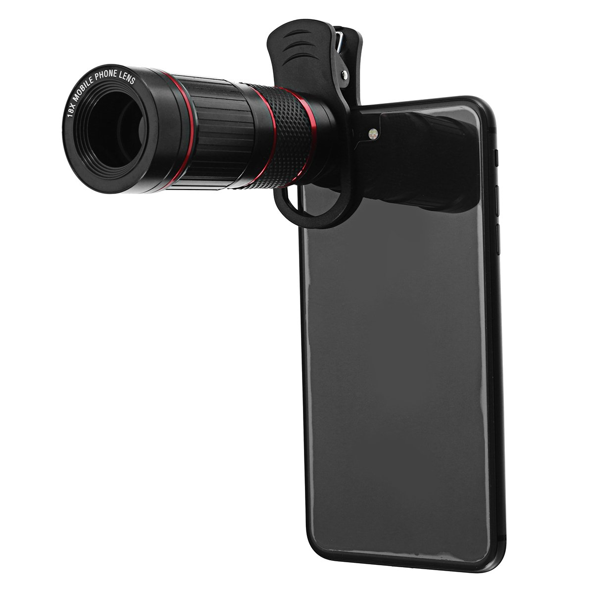 Travel Supplies - 18X Universal Phone Camera Lens Telephoto Telescope Aluminium Monocular With Clip