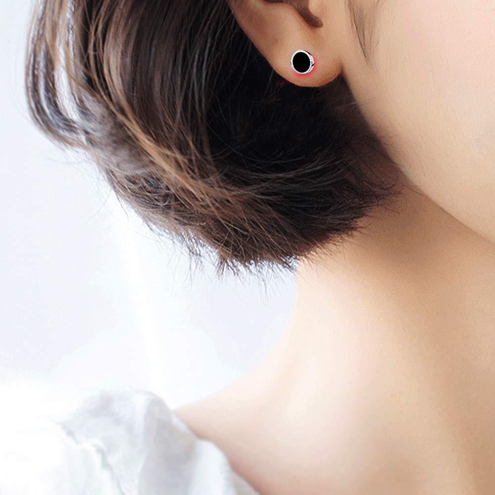 Meyiert Clous d/'oreilles ronds en argent sterling 925 avec une bo/îte cadeau
