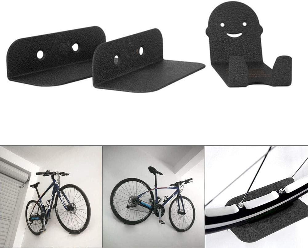 Dastrues 3 Piezas de Soportes de Bicicleta montados en la Pared de Soporte de Acero Bici Ciclismo Pedal de suspensión de Almacenamiento de neumáticos