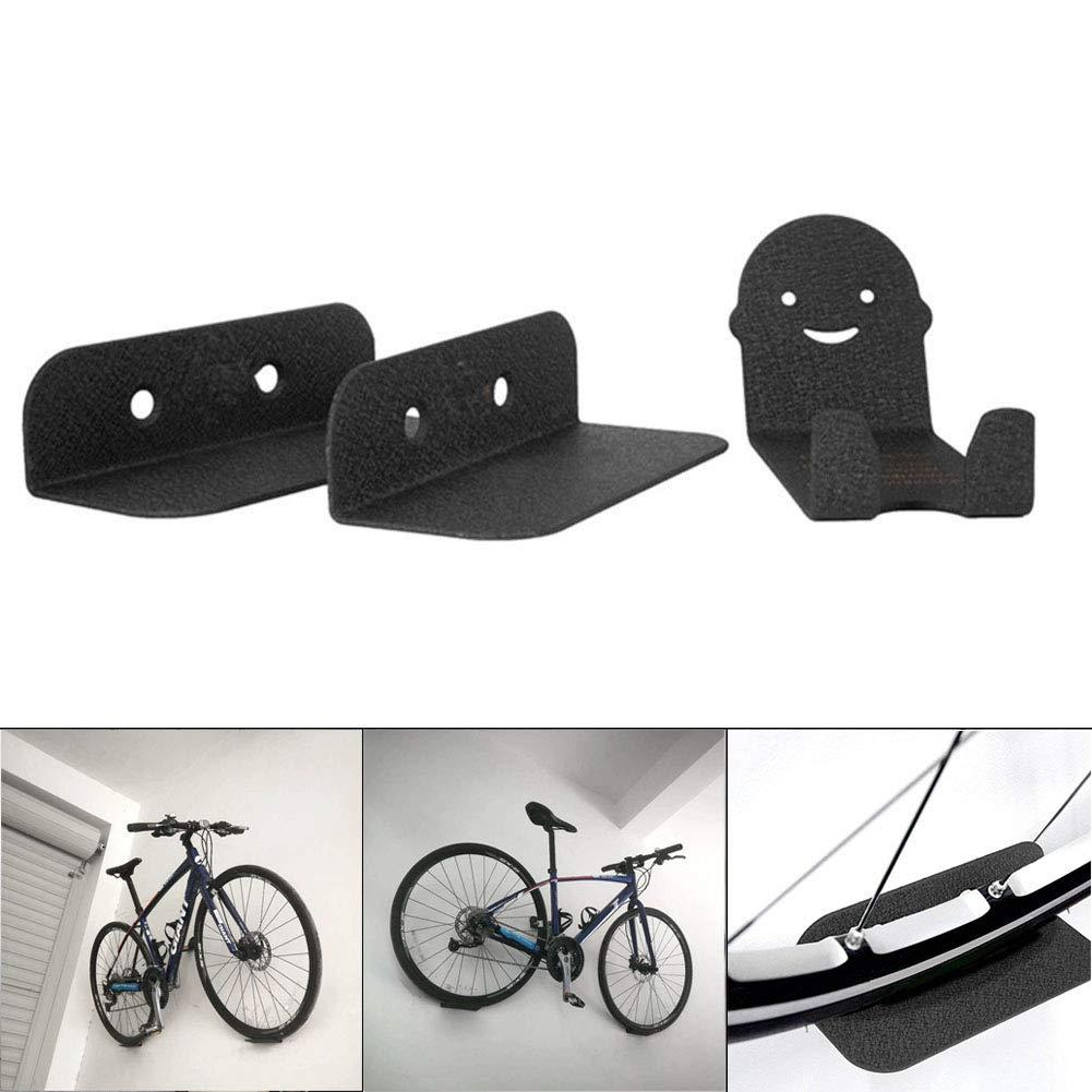 Stahl zur Wandmontage f/ür Fahrrad Reifen Pedal 3 St/ück yangGradel Fahrradst/änder