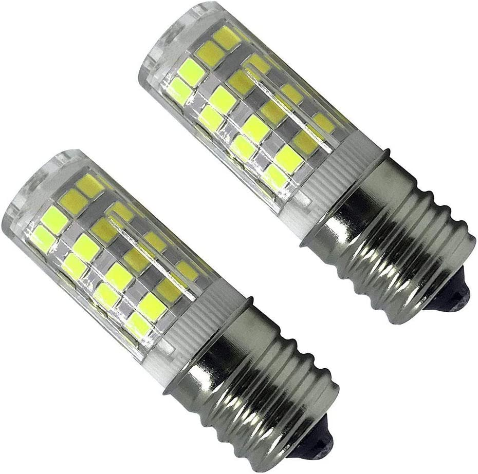 E17 LED T7 T8 Intermediate Base LED Appliance Bulb Lightbulb,Dimmable,4W (40W Halogen Bulb Equivalent),Daylight White 6000K.110 volt-130v,Ceramic E17 LED Bulb for Microwave Oven Appliance(Pack of 2)
