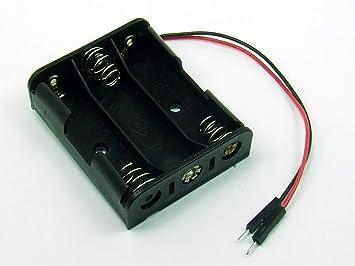 POPESQ® - Adaptador/Adapter Caja para Pilas Soporte Pilas/Battery Holder 3 x AA (R6): Amazon.es: Electrónica