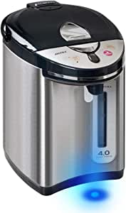 Secura Stainless Steel Water Boiler and Warmer w/Night light   Electric Kettle Water Heater, Tea Pot w/Auto Shut-Off Protection, 4-Quart