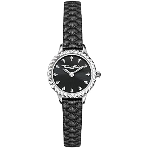 Thomas Sabo Mujer-Reloj para señora Rebel at heart Miniatura negro Análogo Cuarzo WA0328-203-203-19 mm: Amazon.es: Relojes