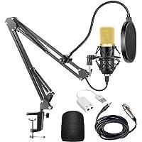 LUNA PARK Micrófono Condensador (2021 Modelo Nuevo) para Radiodifusión y Grabación podcasting,Juegos,Youtube Micrófono…