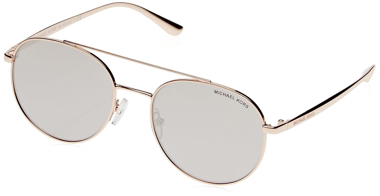 413fcb820556f Michael Kors Women MK1021 53 LON Rose Gold Silver Sunglasses 53mm at Amazon  Women s Clothing store