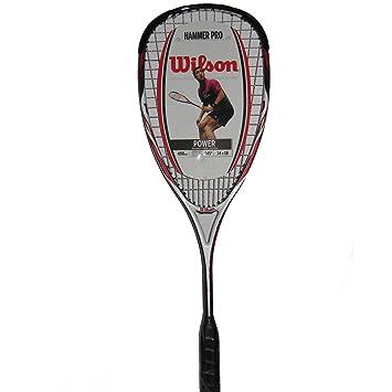 WILSON Hammer Tech Pro 1/2 Cvr Raqueta de Squash, Unisex Adulto, Amarillo/Gris/Blanco, Talla Única: Amazon.es: Deportes y aire libre