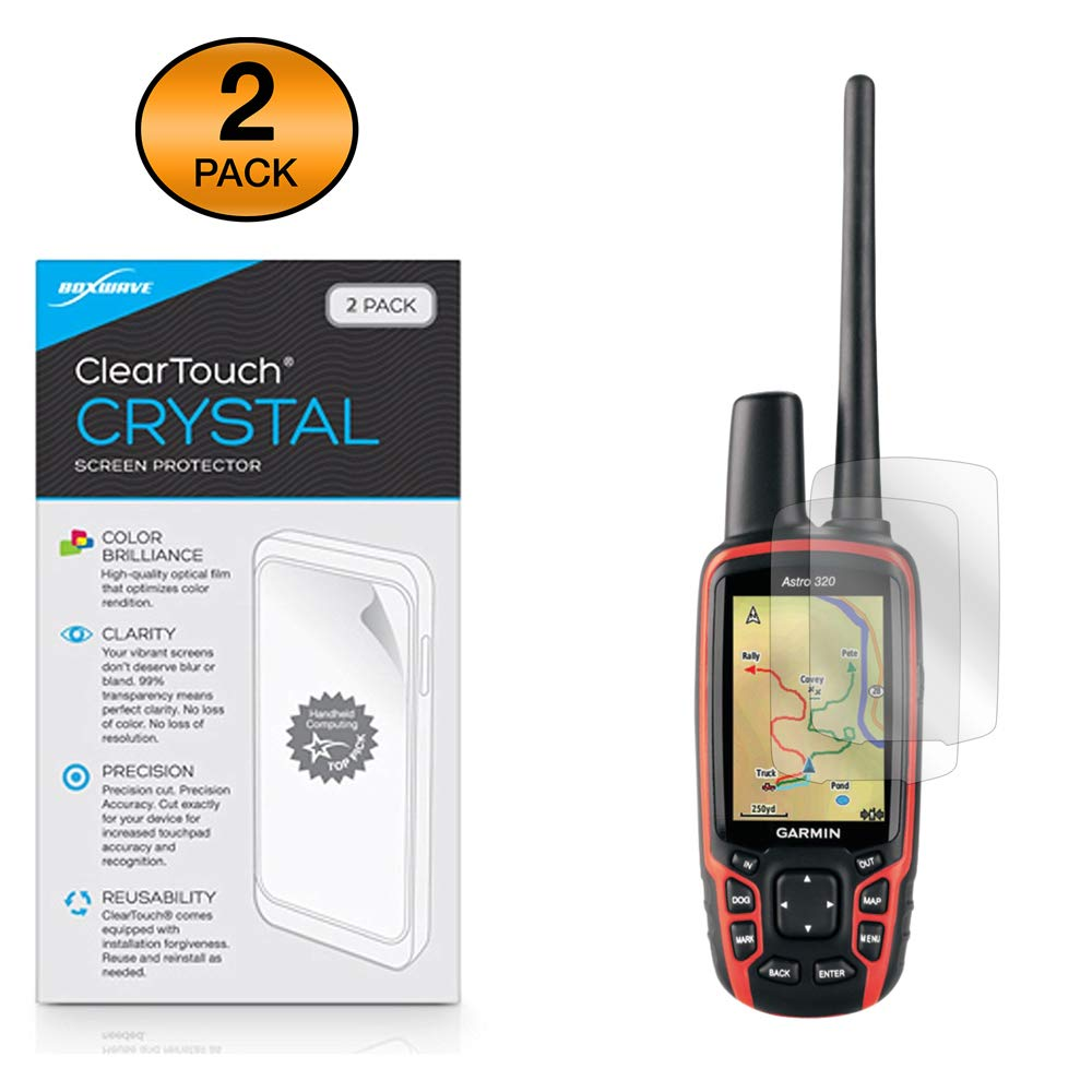 ClearTouch Crystal Shields from Scratches for Garmin Astro 320 BoxWave Corporation bw-863-12123-0 HD Film Skin 2-Pack BoxWave Garmin Astro 320 Screen Protector,