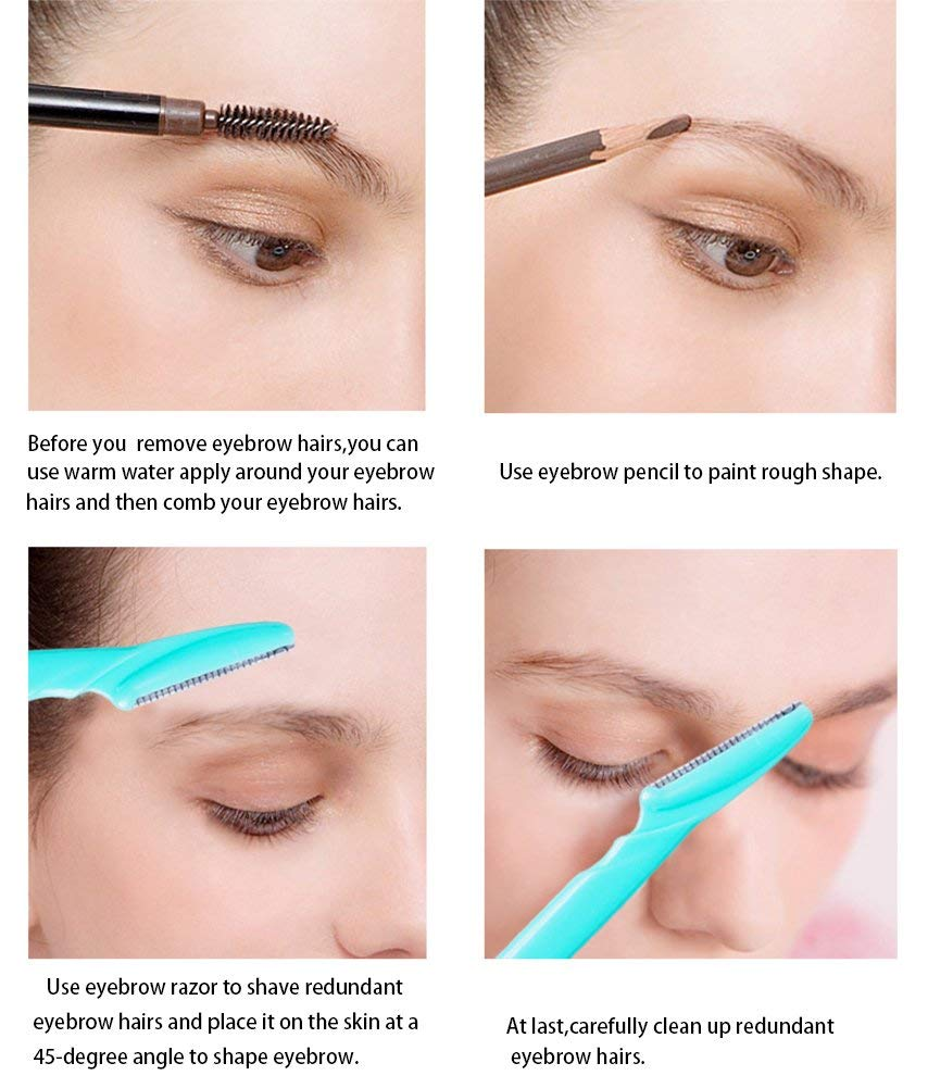 Tatero Eyebrow Razors Precision Sharpness For Trimming And