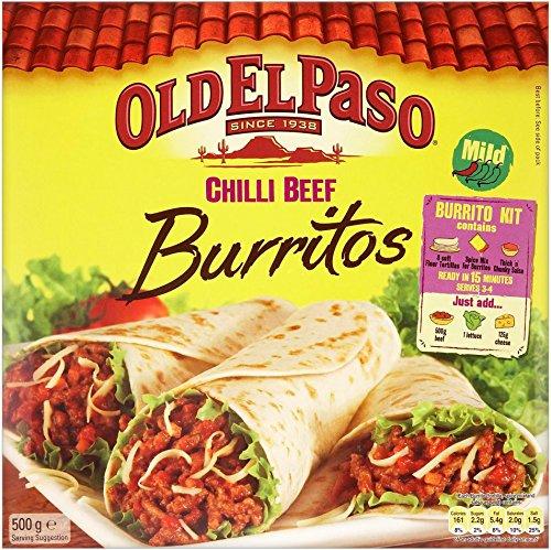 Old El Paso - Beef & Bean Chilli Burritos - 620g (Case of 6)