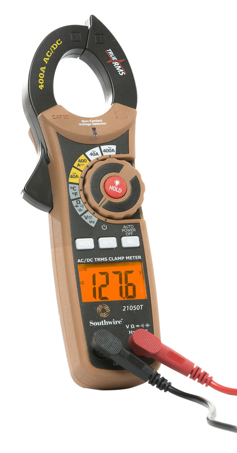 Southwire Tools & Equipment 21050T 400A AC/DC TrueRMS Digital Clamp Meter, Multimeter with 12 Functions
