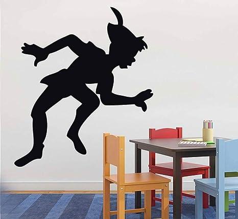 JXLK Cartoon Peter Pan Tatuajes de Pared de Bebé Nursery Kids Room ...