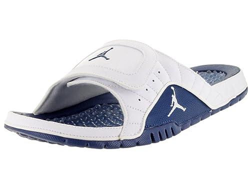 85e78c4a7e1b Jordan Nike Men s Hydro XII Retro White French Blue 820265-107 (Size