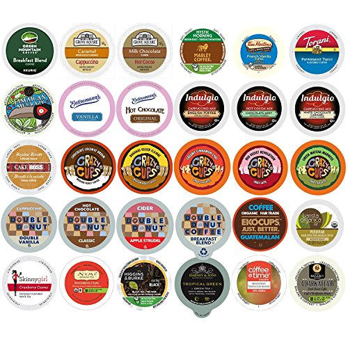 Custom Variety Pack Single Serve for Keurig K Cup Sampler, 30 Count - Mix Combo