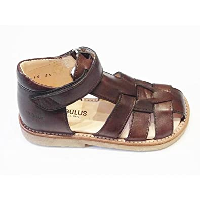 d06d60f17f7 Angulus Brown Leather Closed Toe Sandal with Supportive Ankle 5019 EU30